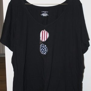 Patriotic Sunglasses V-Neck